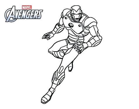 dibujo de los vengadores iron man para colorear