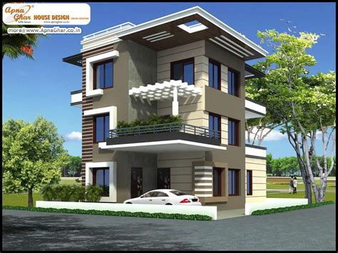triplex house designs 5 bedroom modern triplex 3 floor house design area 192 sq mts 12m x 16m click