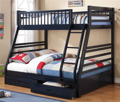 futon etage blue bunk bed with storage