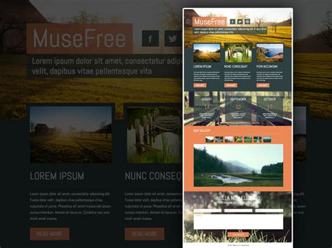 25 free muse templates creative website themes and