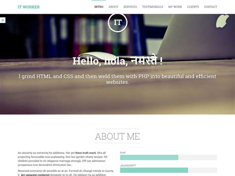 bootstrap themes free download responsive it worker responsive bootstrap portfolio theme