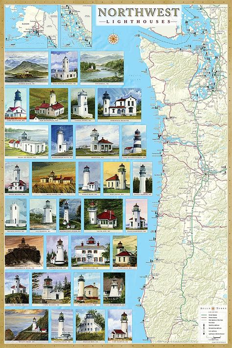 map of maryland lighthouses lighthouse map pack get all 8