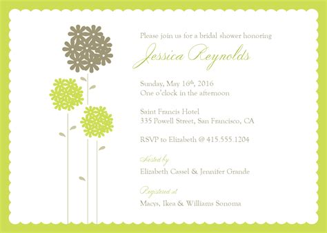 Invites Template by Wedding Shower Invite Template Best Template Collection