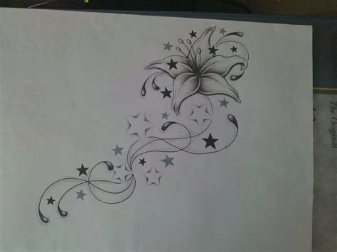 flower swirl tattoo design by average sensation on