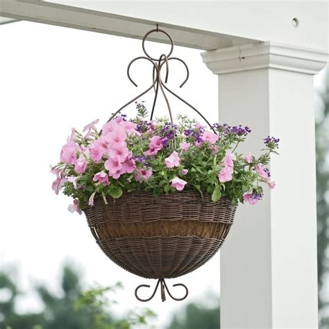 Impressionnant Fleur En Metal Decoration #3: pot-fleurs-suspendu-pétunias-rose-pâle.jpg