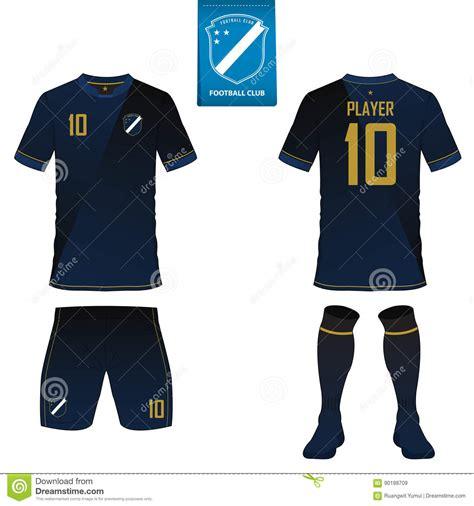 desain jersey team balap set of soccer kit or football jersey template flat