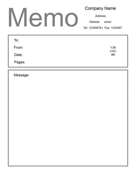 Memo Template Pages Free Microsoft Word Memo Template