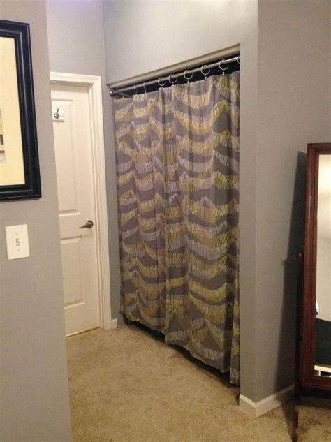 Small Bifold Closet Doors Best 25 Closet Door Curtains Ideas On Curtains For Closet Doors Closet Door