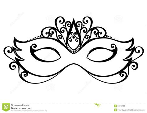 mask template vector use the form below to delete this clip art black and white