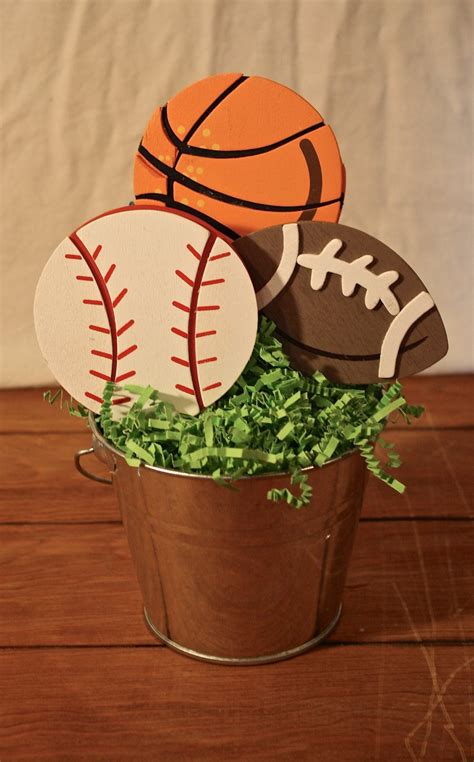 sports centerpiece birthday centerpiece baby shower