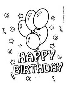birthday coloring page happy birthday coloring pages 2017 dr odd