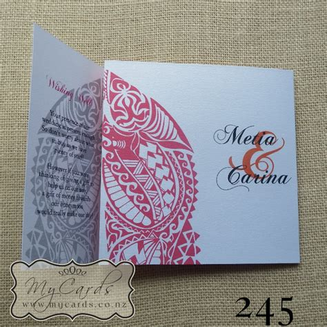 Invitation Letter Pattern Maori Wedding Invitation 140mm Letterfold Mycards Auckland Nz