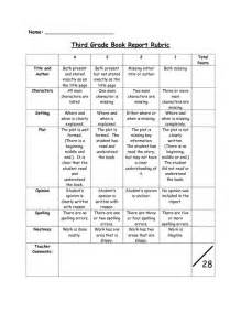 Simple Book Report Rubric by Third Grade Book Report Rubric Name Classroom Third Grade Books Names And