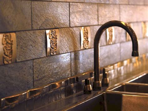Copper Backsplash Tiles For Kitchen Kitchen Backsplash Tile Copper Freshouz