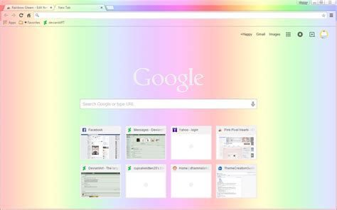 theme google chrome red royal rainbow google chrome theme by sleepy stardust on