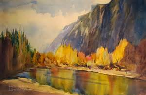 yosemite painting autumn merced river fall color