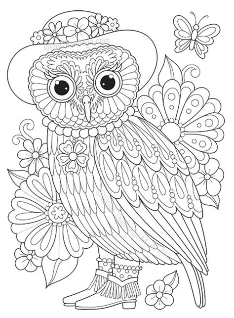 abstract owl coloring page groovy owls coloring book by thaneeya mcardle thaneeya com