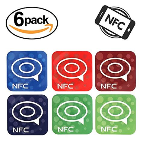Programmable Nfc Tag Sticker 1 Sticker Tag Sticker chitronic 6 pack nfc ntag203 programmable near field communication tags rfid adhesive label