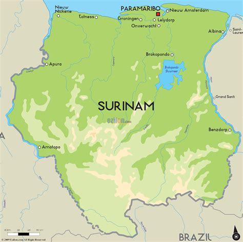 surinam map road map of surinam and surinam road maps