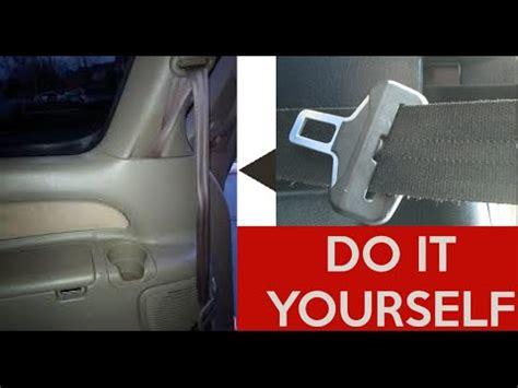 how to fix repair a stuck seatbelt (retract seat belt