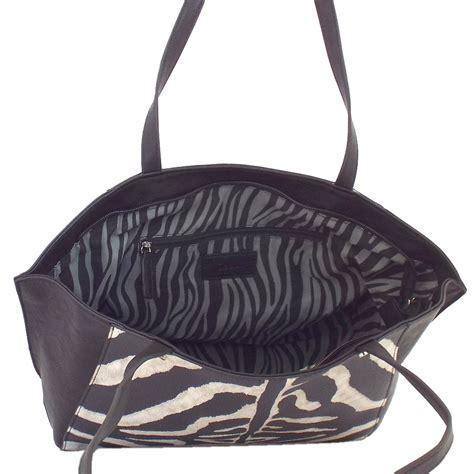 Zebra Bag gabor handbag zebra s tote bag in animal print black