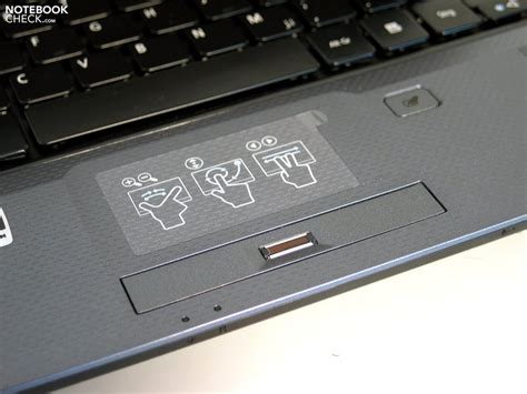 Touchpad Notebook Acer on acer aspire 5739g in review notebookcheck net reviews