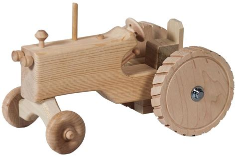 woodwork toys amish wooden tractor
