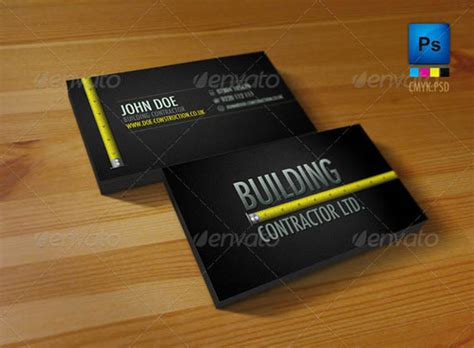 construction business cards templates photoshop 50 best psd photoshop business card templates business