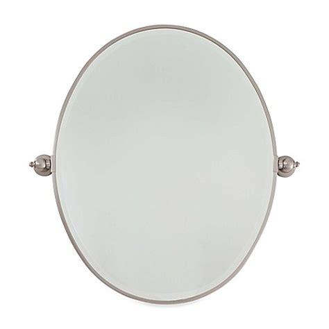 oval bathroom mirrors brushed nickel traditional minka buy minka lavery 174 19 5 inch x 24 5 inch oval mirror in