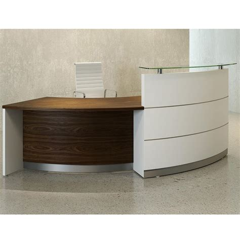 Walnut Reception Desk Reception Desk In Walnut Reception Counter Walnut Reception Desk With Glass