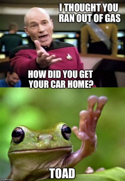 Ran Out Of Gas Meme - stupid question picard imgflip