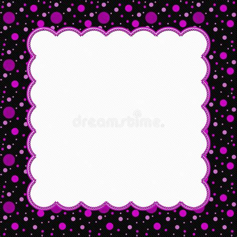 pink polka dot with frame background labs pink and black polka dot frame background stock
