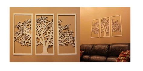 tree wall frame  laser cut vector dxf cdr dxf