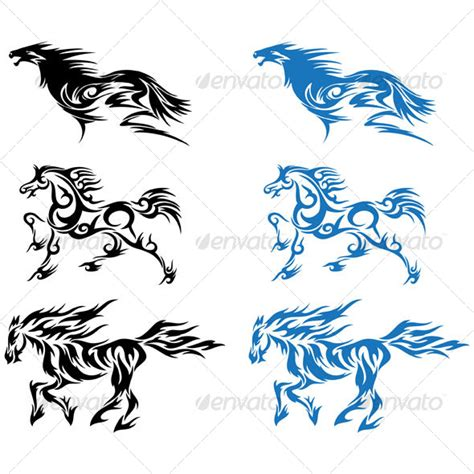 horses design graphicriver