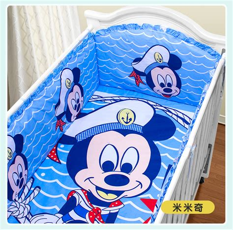 mickey mouse baby bed set promotion 5pcs mickey mouse baby bedding child set
