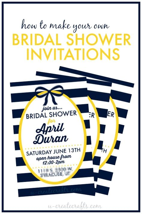 create bridal shower invitations free how to make a bridal shower invitation u create
