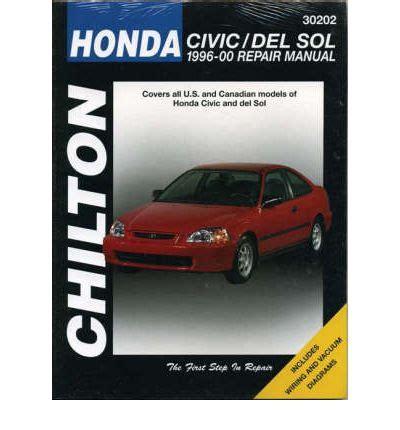what is the best auto repair manual 1996 bmw z3 interior lighting honda civic del sol 1996 2000 sagin workshop car manuals repair books information australia