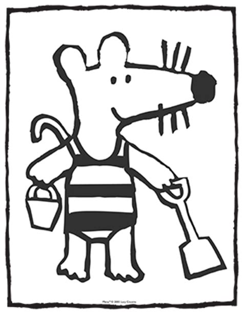 maisy the mouse coloring pages activities for children water smart broward