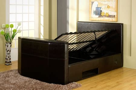 Tv Storage Bed Frame King Size Tv Bed Frame Groupon