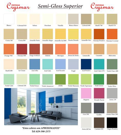 carta de colores interior pinturas crysmar carta de colores pinturas crysmar