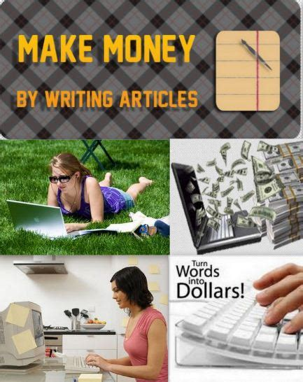 Make Money Writing Articles Online - how to make money from writing articles online