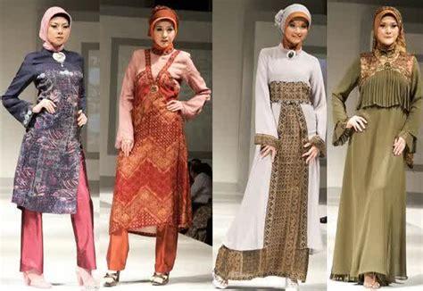 desain baju batik brokat model baju muslim batik kombinasi brokat