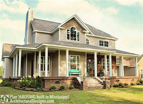 farmhouse floor plans with wrap around porch country farmhouse with wrap around porch 16804wg