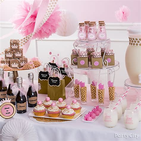 Table Set Decoration 15 Bridal Shower Birthday Baby Shower princess baby shower favor table idea city