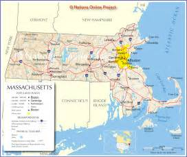Massachusetts Road Map by Massachusetts Road Map Massachusetts Mappery