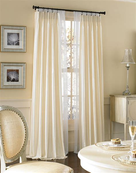 132 inch length curtains dupioni silk pinch pleat luxury curtain panel