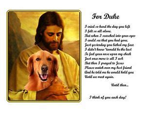 golden retrievals poem golden retriever memorial w jesus poem personalized w s name pet loss gift ebay