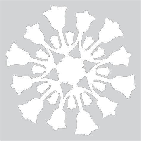 Cut Out Paper Crafts - paper snowflake pattern with bells cut out template free