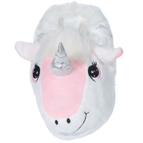 plush slippers for adults plush unicorn slippers large adults one size 18223