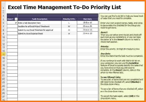 to do list excel template   Vertola